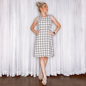 Nine West Dresses - White Plaid Dress by Nine West